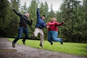 Joyful jump!
