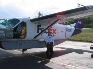 Kim with plane