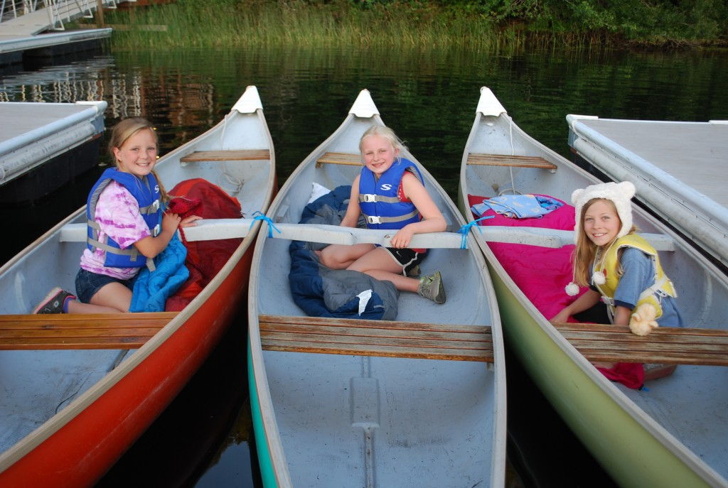 Camp St Albans canoes